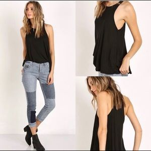 Free People Ribbed Muscle Tank Top